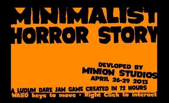 Ludum Dare 26 Entry: Minimalist Horror Story